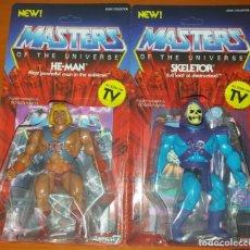 Figuras Masters del Universo: HE-MAN Y SKELETOR SUPER 7 MASTERS OF THE UNIVERSE MOTU VINTAGE CLASSIC NUEVOS HEMAN. Lote 172173242