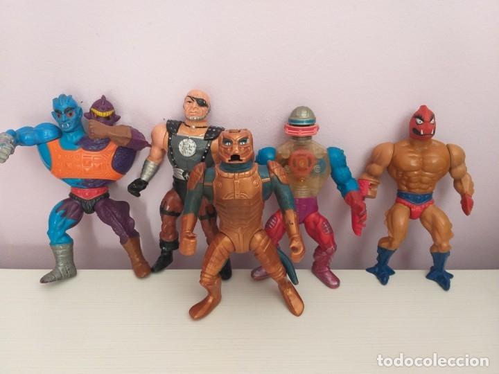 LOTE 5 MASTERS DEL UNIVERSO HE-MAN MOTU BLADE SAUROD ROBOTO TWO BAD CLAWFUL (Juguetes - Figuras de Acción - Master del Universo)