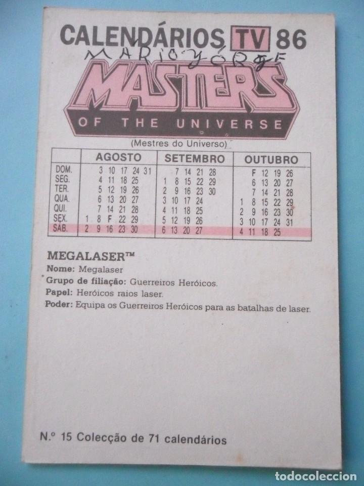 Figuras Masters del Universo: MOTU MASTERS OF THE UNIVERSE CALENDARIO MATTEL 1986 - Foto 2 - 174094043