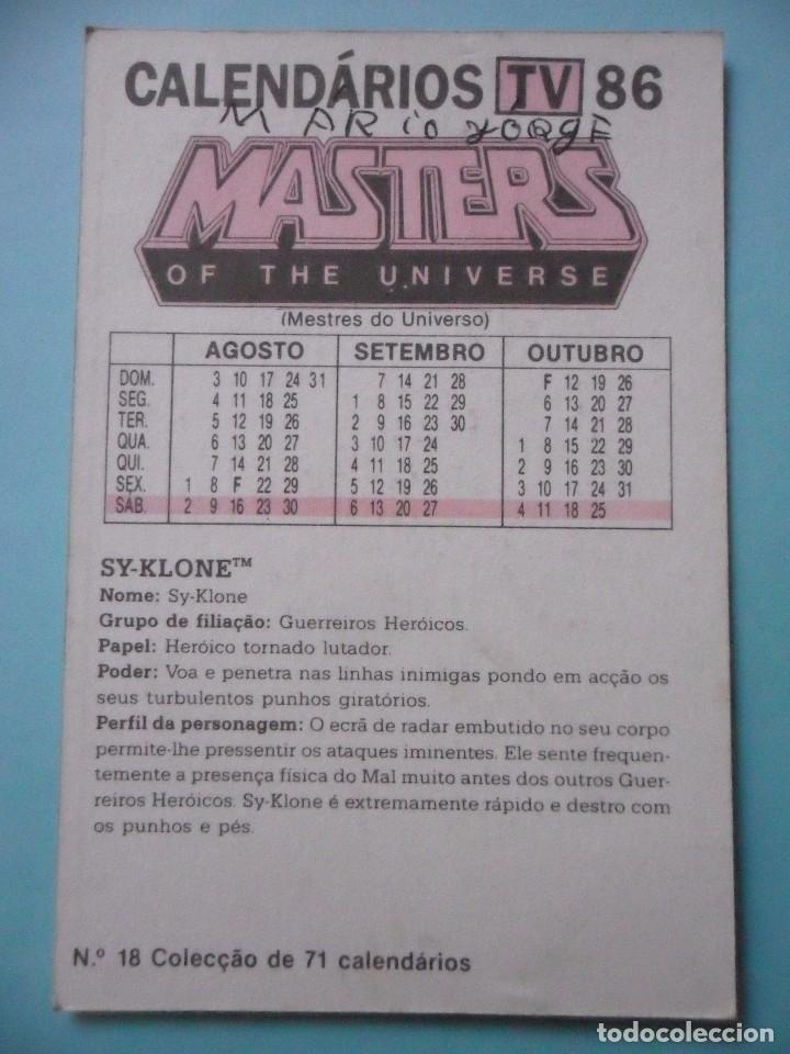 Figuras Masters del Universo: MOTU MASTERS OF THE UNIVERSE CALENDARIO MATTEL 1986 - Foto 2 - 174094075