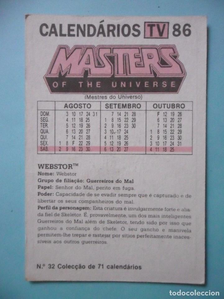 Figuras Masters del Universo: MOTU MASTERS OF THE UNIVERSE CALENDARIO MATTEL 1986 - Foto 2 - 174094237