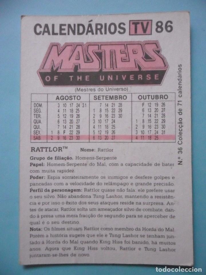 Figuras Masters del Universo: MOTU MASTERS OF THE UNIVERSE CALENDARIO MATTEL 1986 - Foto 2 - 174094349