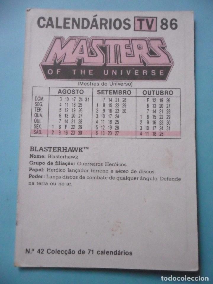 Figuras Masters del Universo: MOTU MASTERS OF THE UNIVERSE CALENDARIO MATTEL 1986 - Foto 2 - 174094433