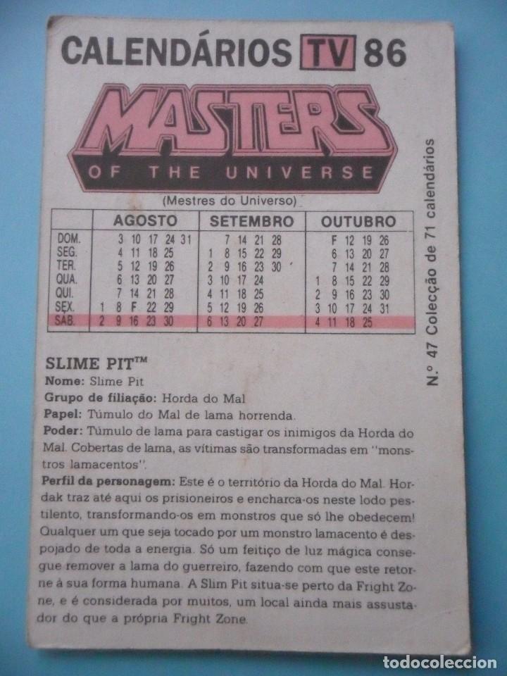 Figuras Masters del Universo: MOTU MASTERS OF THE UNIVERSE CALENDARIO MATTEL 1986 - Foto 2 - 174094613