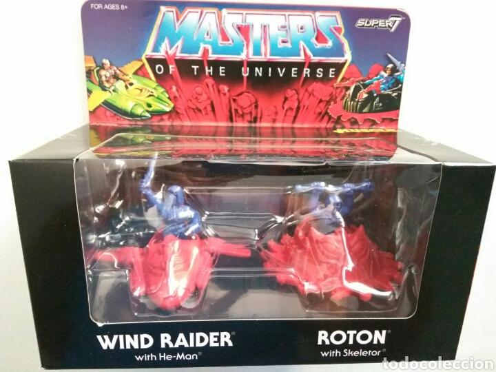 Figuras Masters del Universo: Pack 4 figuras ´MUSCLE´ Wind Raider, He-Man, nave Roton Skeletor masters of universe super7 - Foto 2 - 176180040