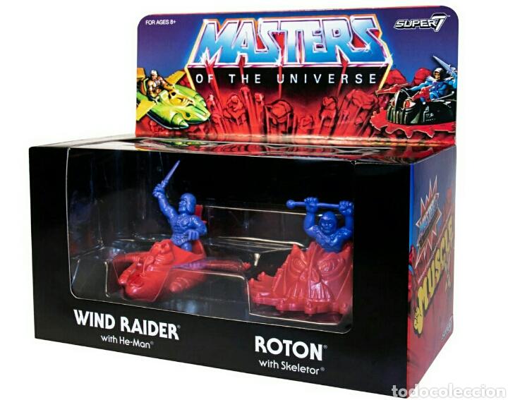 PACK 4 FIGURAS ´MUSCLE´ WIND RAIDER, HE-MAN, NAVE ROTON SKELETOR MASTERS OF UNIVERSE SUPER7 (Juguetes - Figuras de Acción - Master del Universo)