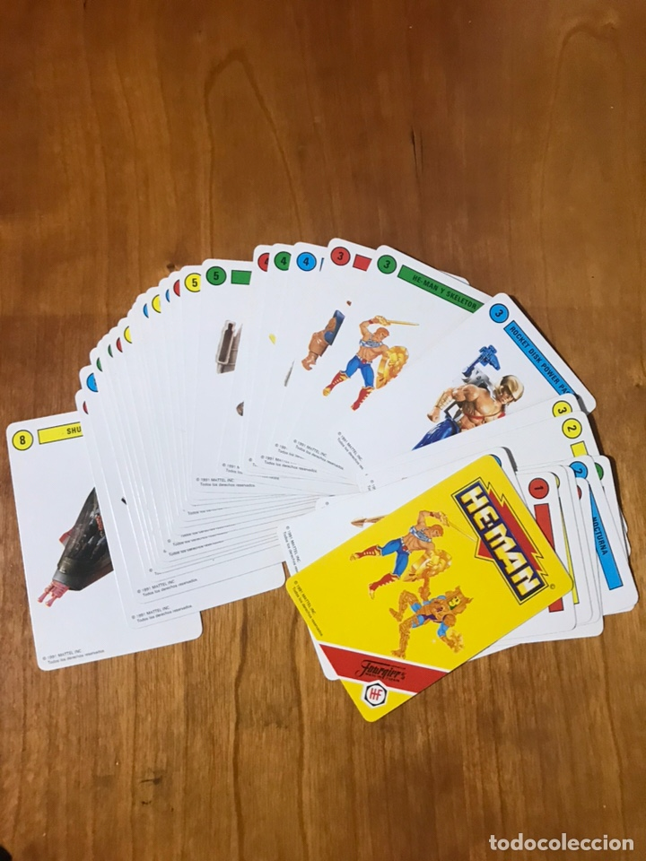 Figuras Masters del Universo: Baraja de cartas He Man masters del unvierso Fournier 33 cartas Nueva sin uso - Foto 3 - 176525217