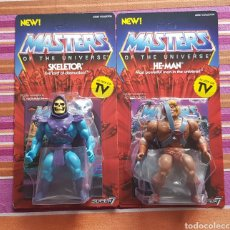 Figuras Masters del Universo: PAREJA HE-MAN & SKELETOR VINTAGE WAVE 1 MOTU NEOVINTAGE MASTERS OF THE UNIVERSE SUPER7 HE-MAN NEW. Lote 162538998