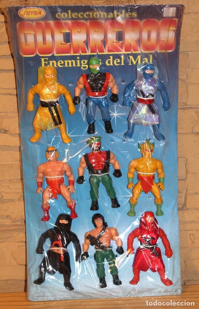 CARTON EXPOSITOR GUERREROS DE JUYBA - NUEVO Y PRECINTADO - 9 FIGURAS BOOTLEG - HEMAN MASTERS MOTU (Juguetes - Figuras de Acción - Master del Universo)