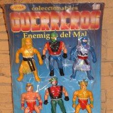 Figuras Masters del Universo: CARTON EXPOSITOR GUERREROS DE JUYBA - NUEVO Y PRECINTADO - 9 FIGURAS BOOTLEG - HEMAN MASTERS MOTU. Lote 181428977