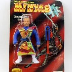 Figuras Masters del Universo: GUERREROS MINYAS. BOOTLEG FIGURA ACCION NINJA. NUEVA. EN SU BLISTER ORIGINAL. MOTU MASTERS HEMAN. Lote 181656937