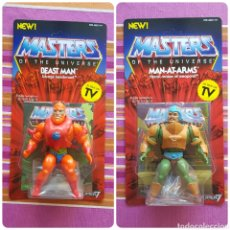 Figuras Masters del Universo: MAN-AT-ARMS & BEAST-MAN NEO-VINTAGE WAVE 2 MASTERS OF THE UNIVERSE MOTU HE-MAN. Lote 168936580