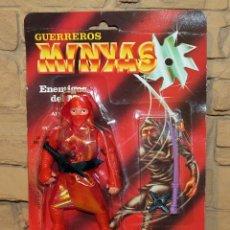Figuras Masters del Universo: GUERREROS MINYAS. JUYBA. BOOTLEG FIGURA ACCION NINJA. NUEVA. EN BLISTER ORIGINAL. MOTU MASTERS HEMAN. Lote 186091846