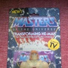 Figuras Masters del Universo: MASTERS DEL UNIVERSO BLÍSTER ORIGINAL(SIN ABRIR)*TRANSFORMING HE-MAN*ARMADURA,ESPADA,ESCUDO-MOTU. Lote 186413268