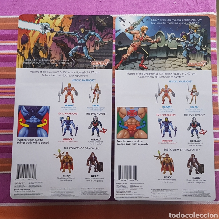 Figuras Masters del Universo: HE-MAN & SKELETOR VINTAGE WAVE 1 MOTU NEOVINTAGE Masters of the Universe SUPER7 HE-MAN NEW - Foto 2 - 178445085