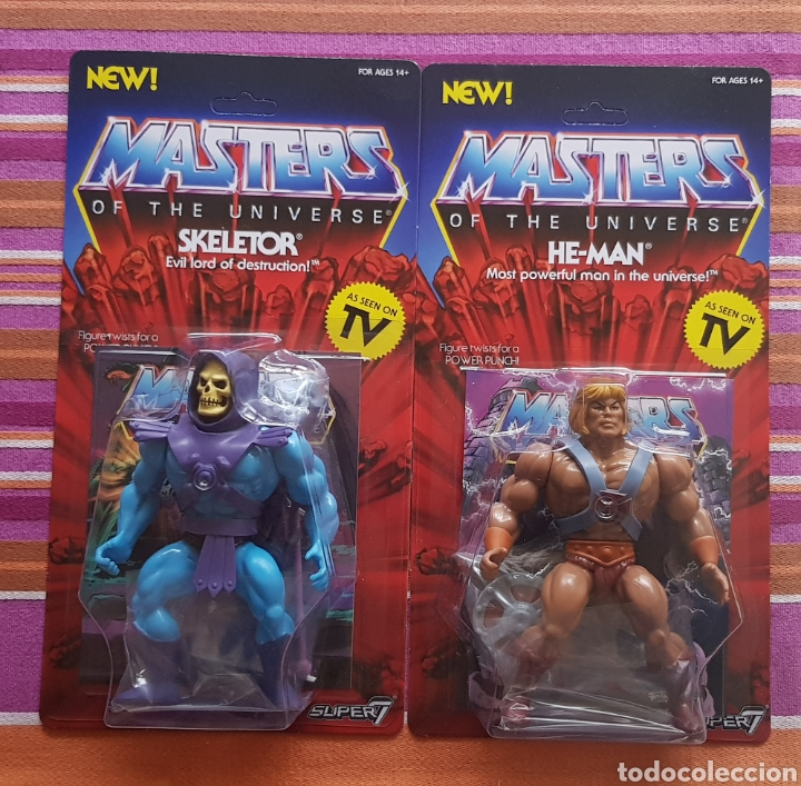 Figuras Masters del Universo: HE-MAN & SKELETOR VINTAGE WAVE 1 MOTU NEOVINTAGE Masters of the Universe SUPER7 HE-MAN NEW - Foto 1 - 178445085