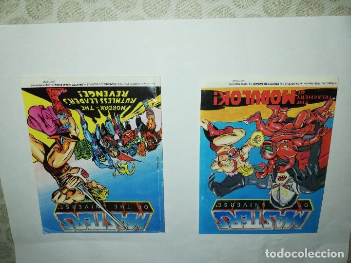 2 MINI COMICS ORIGINALES MOTU, MASTERS DEL UNIVERSO, AÑOS 80,HEMAN,SKELETOR,HORDAK,MOTUC (Juguetes - Figuras de Acción - Master del Universo)