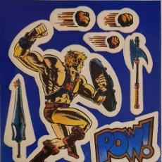 Figuras Masters del Universo: MASTERS DEL UNIVERSO - PEGATINA PROMOCIONAL USA 1984 MASTERS OF THE UNIVERSE HE-MAN. Lote 191530561