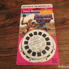 Figuras Masters del Universo: MASTERS DEL UNIVERSO VIEW-MASTER 3D DISCOS VISOR. CAJA ORIGINAL 1985 HE-MAN. MOTU MATTEL. UNIVERSE. Lote 192417915