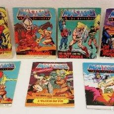 Figuras Masters del Universo: 7 MINI COMIC MASTERS DEL UNIVERSO, MASTERS OF UNIVERS, MATTEL, MOTU, HEMAN, AÑOS 1985 - 84, IMPRESOS. Lote 194189236