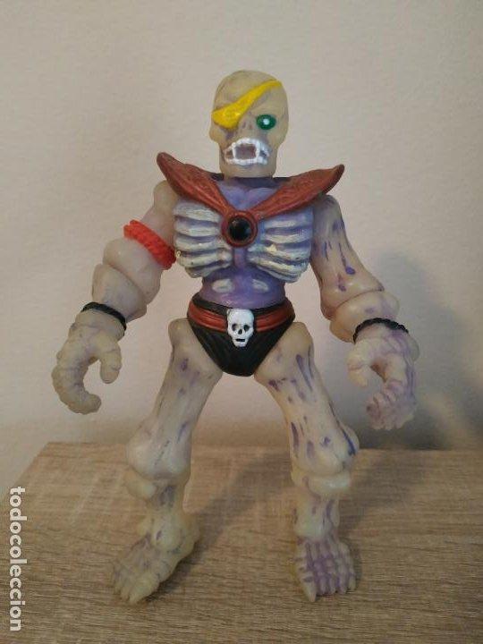MUÑECO HINSTAR SKULL FORCE MOTU BOOTLEG SKELETON HE MAN SE ILUMINA EN LA OSCURIDAD RARO DE CONSEGUIR (Juguetes - Figuras de Acción - Master del Universo)