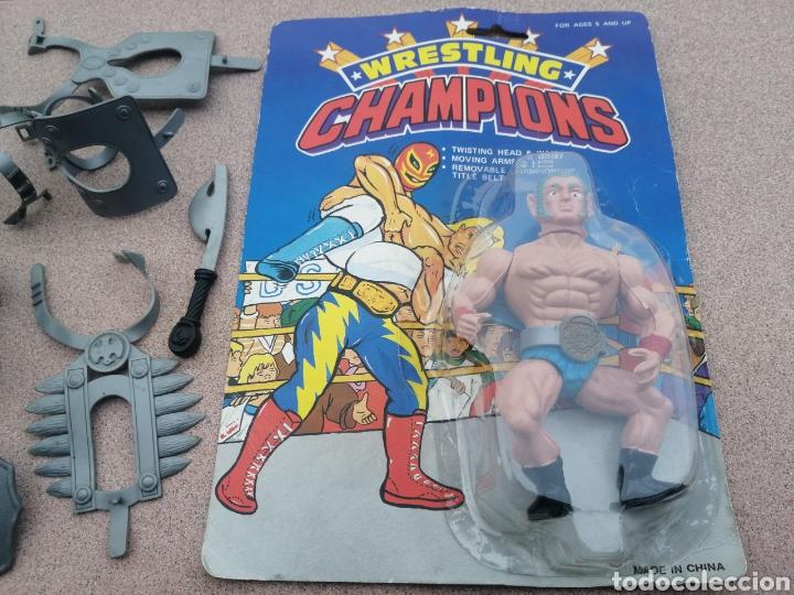 Figuras Masters del Universo: Armas, Corazas, Escudos Bootlegs! . Galaxy Warriors, galaxy fighters y blister wresting champions - Foto 3 - 194335576