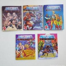 Figuras Masters del Universo: LOTE 5 MINICOMICS/MINICATALOGOS MASTERS OF THE UNIVERSE ETERNIA MOTU (REPRO). Lote 194972991