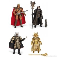 Figuras Masters del Universo: SET COMPLETO FIGURAS MASTERS DEL UNIVERSO WILLIAM STOUT. HE-MAN, SKELETOR, GOD SKELETOR Y KARG. Lote 195148135
