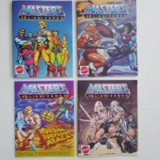 Figuras Masters del Universo: LOTE 3 MINICATALOGOS Y 1 MINICOMIC CUSTOM. ESPAÑOLES MASTERS OF THE UNIVERSE MOTU. Lote 195206620