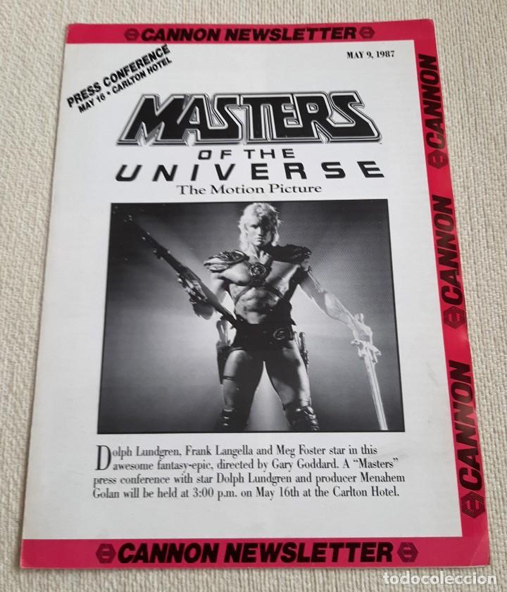 PELÍCULA MASTERS DEL UNIVERSO UNIVERSE THE MOVIE. BOLETÍN INFORMATIVO CANNON NEWSLETTER. 1987 (Juguetes - Figuras de Acción - Master del Universo)