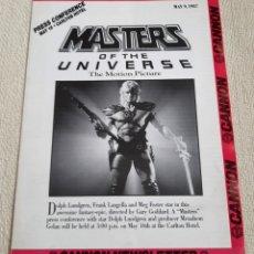 Figuras Masters del Universo: PELÍCULA MASTERS DEL UNIVERSO UNIVERSE THE MOVIE. BOLETÍN INFORMATIVO CANNON NEWSLETTER. 1987. Lote 195507203