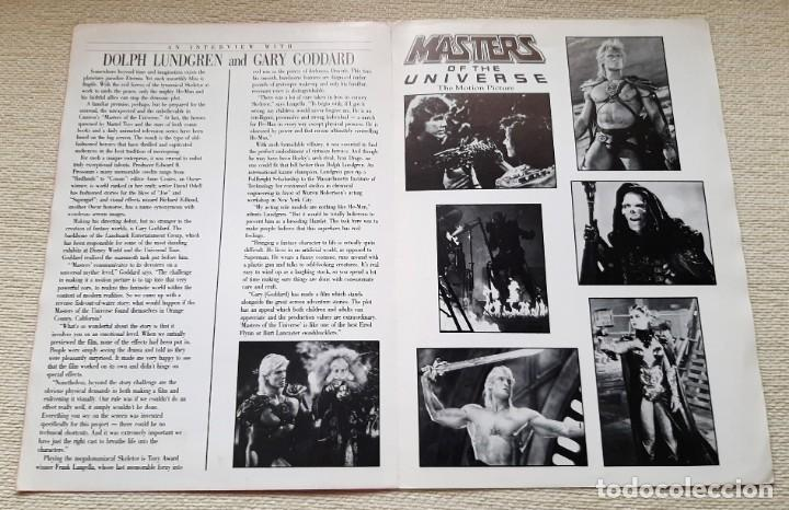 Figuras Masters del Universo: Película Masters del Universo Universe The Movie. Boletín informativo Cannon Newsletter. 1987 - Foto 2 - 195507203