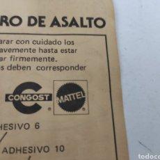 Figure Masters del Universo: MASTERS DEL UNIVERSO CONGOST INSTRUCCIONES CARRO DE ASALTO. Lote 199332507