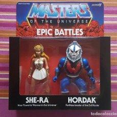 Figuras Masters del Universo: PACK EPIC BATTLES SHE-RA & HORDAK MASTERS OF THE UNIVERSE MOTU HE-MAN NEOVINTAGE. Lote 202527082