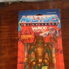 Figuras Os Masters do Universo: MASTERS DEL UNIVERSO- SAUROD – MATTEL ESPAÑA 1988 - ORIGINAL EN BLISTER (ROTO). Lote 205175658