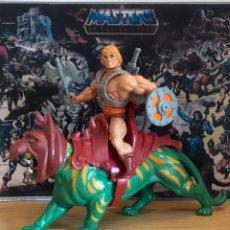 Figuras Masters del Universo: HE-MAN CON BATTLE CAT ORIGINAL DE MATTEL 1981,. Lote 205453606