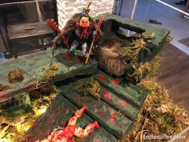 Figuras Masters del Universo: Increíble Diorama dos custom ! Skeleterror fuck he !! Master. Motu. He man. - Foto 4 - 206972585
