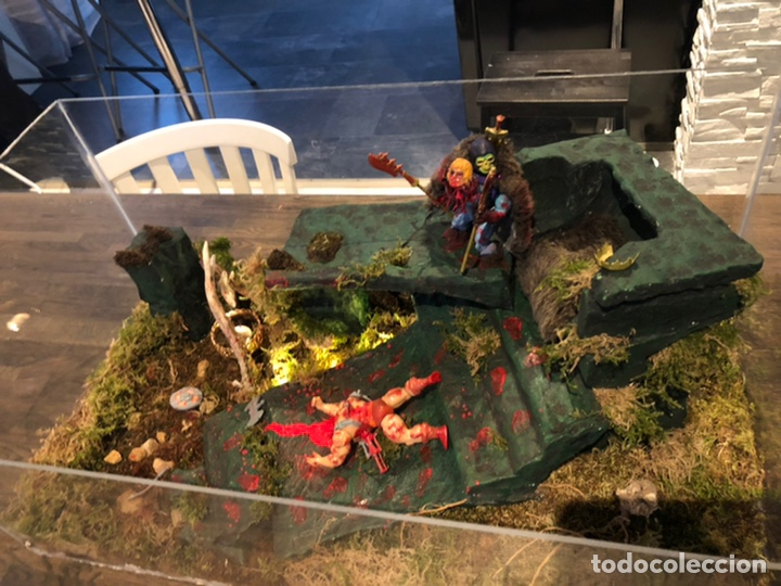 Figuras Masters del Universo: Increíble Diorama dos custom ! Skeleterror fuck he !! Master. Motu. He man. - Foto 14 - 206972585