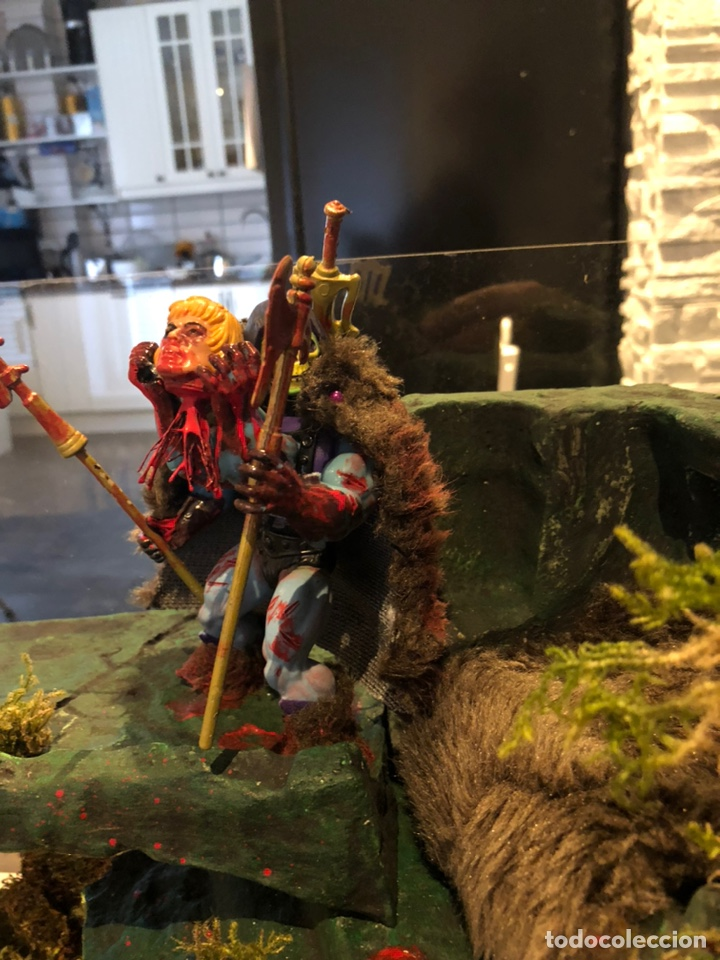 Figuras Masters del Universo: Increíble Diorama dos custom ! Skeleterror fuck he !! Master. Motu. He man. - Foto 3 - 206972585
