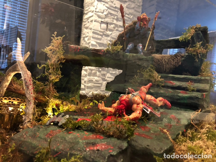 Figuras Masters del Universo: Increíble Diorama dos custom ! Skeleterror fuck he !! Master. Motu. He man. - Foto 17 - 206972585