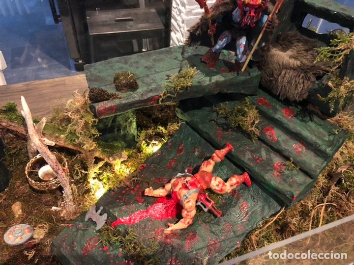 Figuras Masters del Universo: Increíble Diorama dos custom ! Skeleterror fuck he !! Master. Motu. He man. - Foto 21 - 206972585