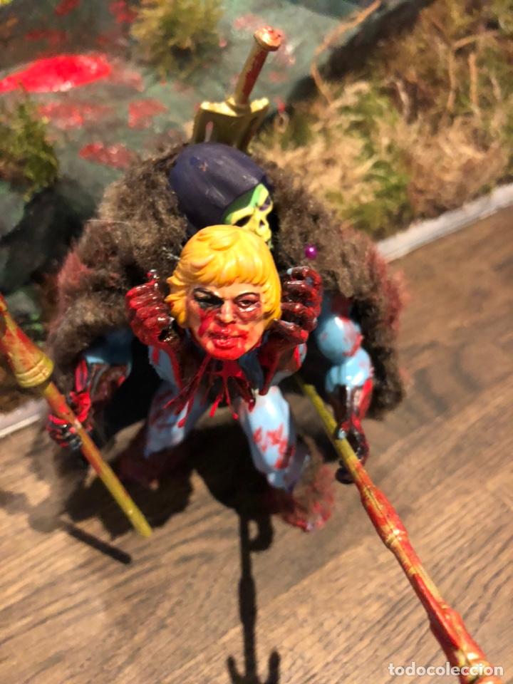 Figuras Masters del Universo: Increíble Diorama dos custom ! Skeleterror fuck he !! Master. Motu. He man. - Foto 26 - 206972585