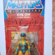 Figuras Masters del Universo: MOTU MASTERS DEL UNIVERSO EVIL LYN BLISTER ESPAÑOL MATTEL 1985 RARO EN BLISTER. Lote 210346365