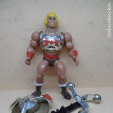 Figuras Masters del Universo: MOTU HE-MAN PUÑO BOLEADOR 1985 MATTEL COMPLETO. Lote 210953477