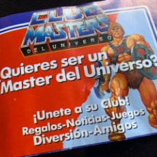 Figuras Masters del Universo: BOLETÍN DE 1988 DE INSCRIPCIÓN AL CLUB DE LOS MASTERS DEL UNIVERSO MOTU. Lote 213775467