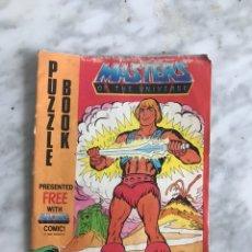 Figuras Masters del Universo: MOTU PUZZLE BOOK, MASTER OF THE UNIVERSE. Lote 214735436