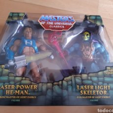 Figuras Masters del Universo: PACK DE DOS FIGURAS MASTERS DEL UNIVERSO MATTEL SIN DESPRECINTAR SE ILUMINAN. VER DESCRIPCIÓN. Lote 216578980