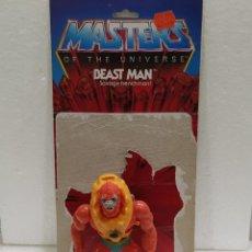 Figuras Masters del Universo: MOTU BEAST MAN HE-MAN DE MASTERS DEL UNIVERSO DE 1981. MADE IN TAIWÁN + FICHA EN INGLÉS.. Lote 216730946