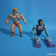 Figuras Masters del Universo: LOTE MASTERS DEL UNIVERSO. HE-MAN Y SKELETOR ARMADURA DE COMBATE BATTLE AMOR FRANCE.. Lote 296768558