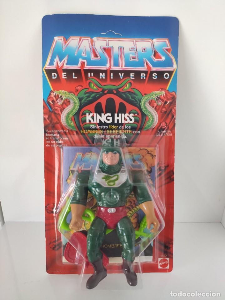 BLISTER KING HISS PERFECTO MASTERS DEL UNIVERSO HEMAN (Juguetes - Figuras de Acción - Master del Universo)